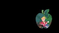 Apple-shaped iris out on Big Mac's wink CYOE11a