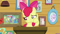 Apple Bloom wiping some tears away S9E12