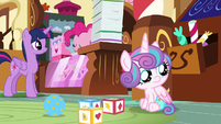 Flurry Heart watches the Cake twins fight S7E3