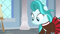 Lighthoof looks down at Shimmy Shake S9E15