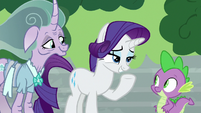 Rarity -luckily, we have just the thing- S7E26