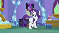 Rarity watches Spike leave the room S9E19