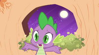 Spike in front of a window S2E20