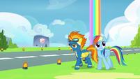 Spitfire explaining to Rainbow Dash S6E7