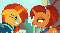Sunburst losing his patience with his mother S8E8