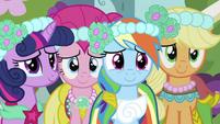 Twilight, Pinkie, Rainbow and Applejack S2E26
