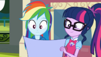 Twilight shows her blueprints to Rainbow Dash SS13