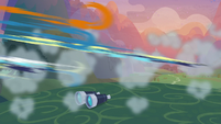 Wonderbolts zooming off the ground S9E26
