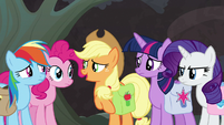 "Applejack ""think more like Earth ponies"" S8E25"