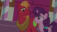 Big Mac and Sugar Belle looking sad S9E23