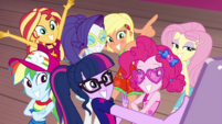 Equestria Girls taking a group selfie EGDS41
