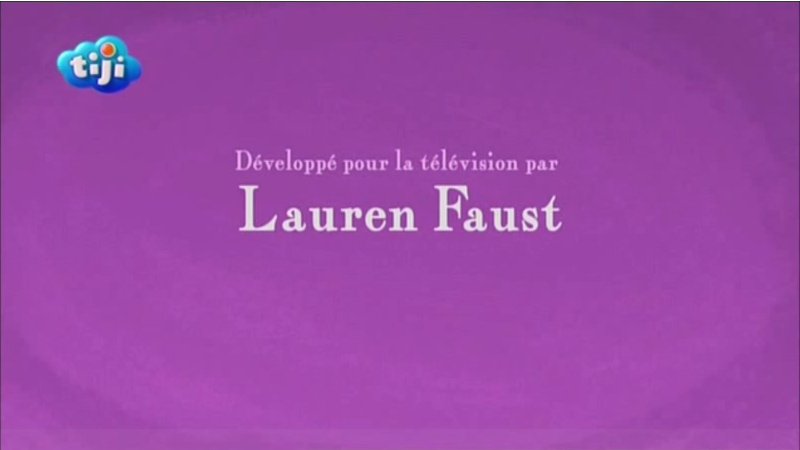 French 'Developed for Television by Lauren Faust' Credit.png