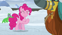 """Pinkie Pie """"happy to come dig the snow away"""" S7E11"""