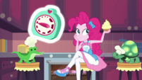 Pinkie takes out cupcake while waiting EGDS30
