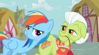 Rainbow Dash assisting Granny Smith S2E8
