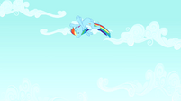 Rainbow flying excitedly S4E12