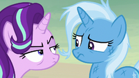 Starlight Glimmer glaring at Trixie S8E19