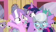Twilight with Diamond Tiara and Silver Spoon S4E15
