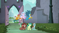 Young Six in awe of the crystal treehouse S9E3