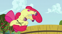 Apple Bloom falls off the tub of grapes S6E4