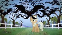 Bats flying towards the screen S04E07