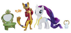 MLP The Movie Rarity & Capper Dapperpaws Styling Friends Set
