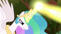 Princess Celestia blasting her magic S9E2