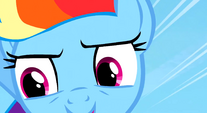 Rainbow with concentrated expression S3E12