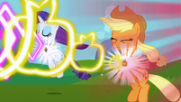 Rarity and Applejack's elements activating S3E10