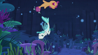 Scootaloo and Terramar spiral around each other S8E6
