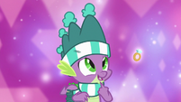 Spike admiring a diamond ring MLPBGE