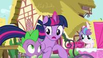 "Twilight Sparkle ""we can't cancel, Spike!"" S7E3"