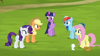 Twilight Sparkle addressing her friends S8E18