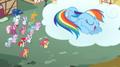 201px-Crowd of people watch Rainbow Dash sleep S2E6