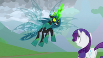 Queen Chrysalis menaces Rarity S9E25