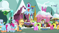 Rainbow Dash shoots up out of line BGES1