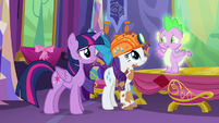 Spike --would you two come with me--- S6E5