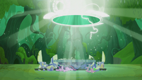 Twilight and Spike land in a new timeline S5E25