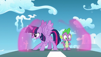 Twilight dissipates her bubble shield S5E26