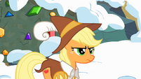Applejack frustrated by Pinkie's behavior S2E11