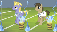 Dr. Hooves and unnamed archer taking positions S4E24