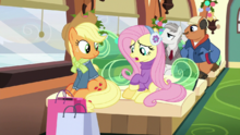 Fluttershy gifts for Spike or Rainbow Dash MLPBGE.png