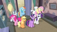 Mane Six inside Starlight's home S5E01