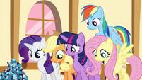 Pinkie Pie's friends look down S4E18