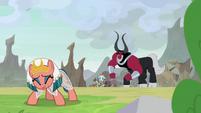 Rockhoof tells Somnambula to warn princesses S9E24