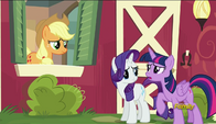 S06E10 Twilight, Rarity i Applejack
