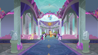 School of Friendship inner lobby S8E1
