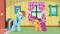 Scootaloo tearfully declines the tickets S9E12
