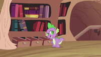 Spike reaching in the drawer S2E03