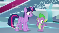 Spike thinking about Twilight's decision S8E7